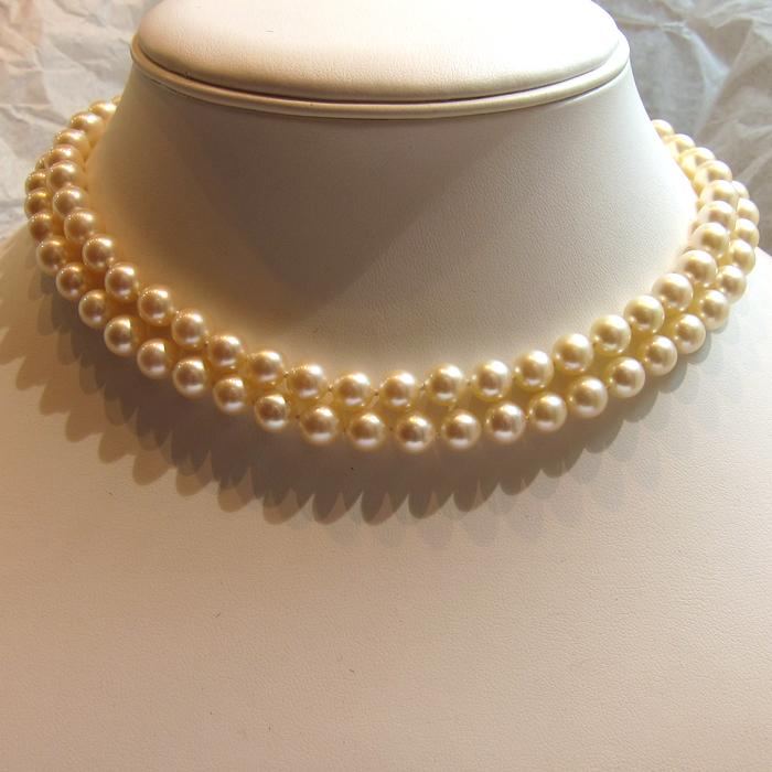 bijoux anciens paris collier de perles de culture ras de cou 172. Black Bedroom Furniture Sets. Home Design Ideas
