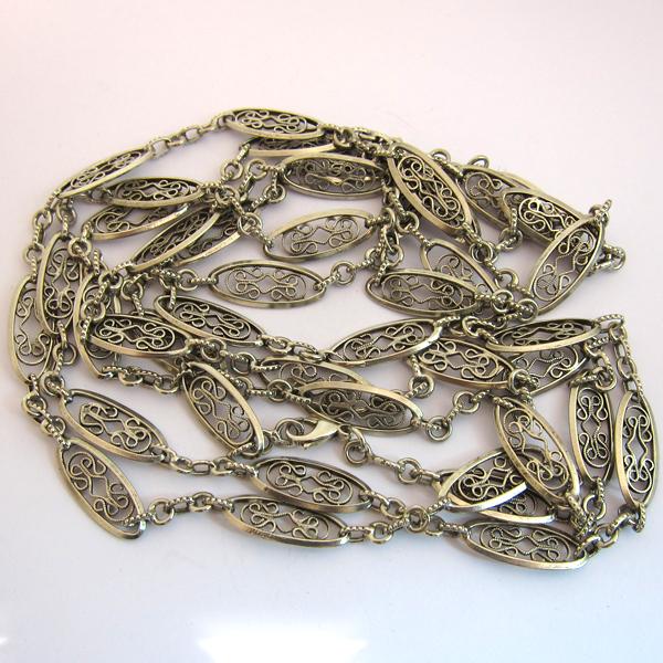 ancien collier argent filigrane