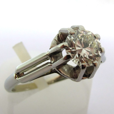 solitaire diamant 701 ancienne bague de fian ailles bijoux anciens paris or. Black Bedroom Furniture Sets. Home Design Ideas