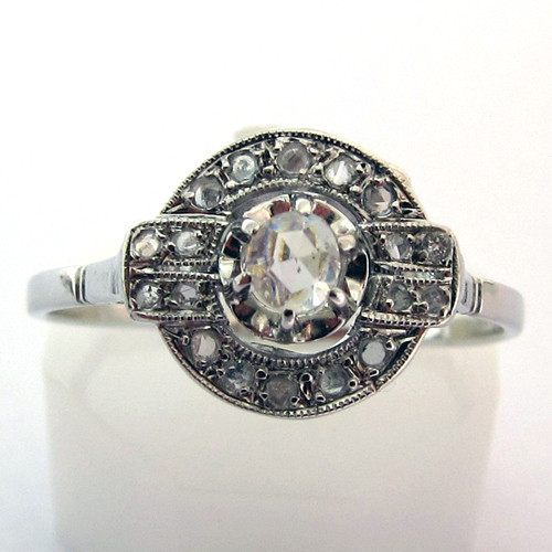 Favori EXPERTISE BIJOUX PARIS - BAGUE ART DECO DIAMANTS OR PLATINE 702  SW66