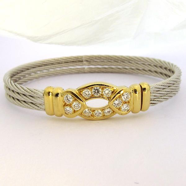 fred bracelets bracelet fred force 10 or diamants 149 bijoux anciens paris or. Black Bedroom Furniture Sets. Home Design Ideas