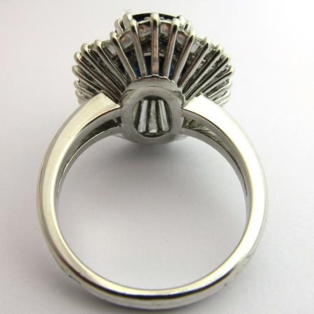 joaillerie de luxe d occasion paris bague jupe saphir diamants or gris 1456. Black Bedroom Furniture Sets. Home Design Ideas