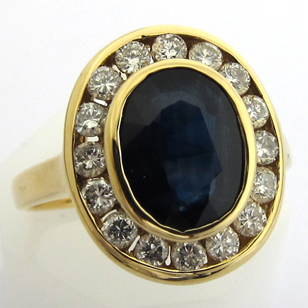 marguerite 862 bagues de fiancailles saphir diamant vintage occasion bijoux anciens paris or. Black Bedroom Furniture Sets. Home Design Ideas