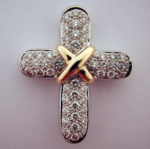 bijouterie religieuse pendentif croix en or et diamants. Black Bedroom Furniture Sets. Home Design Ideas
