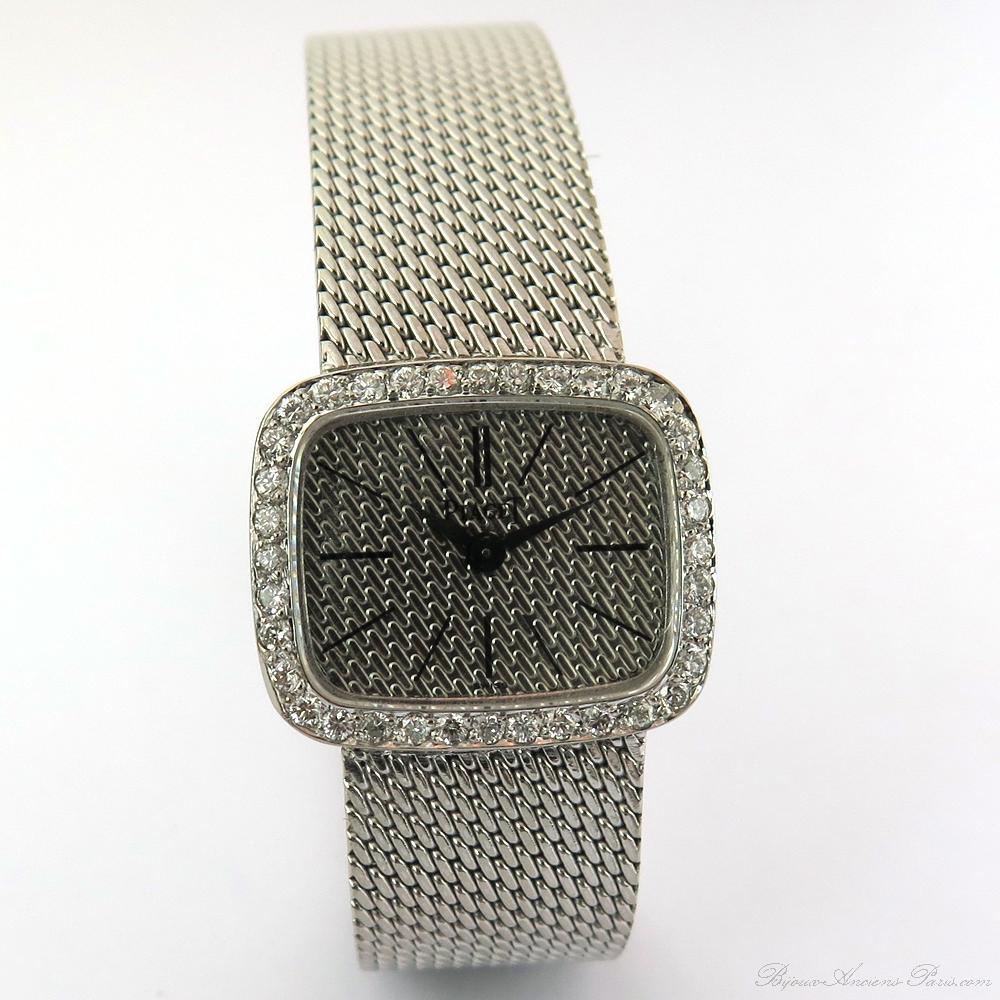 piaget occasion paris montre diamants or blanc pour femme 127. Black Bedroom Furniture Sets. Home Design Ideas