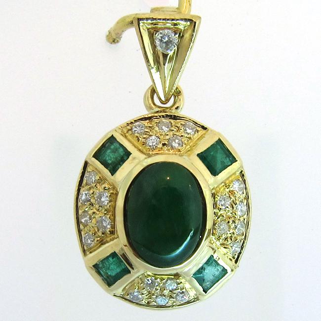 nouveau sommet plus bas rabais Royaume-Uni disponibilité Pendentif or pierres vertes jade et émeraudes 272 : Bijoux ...