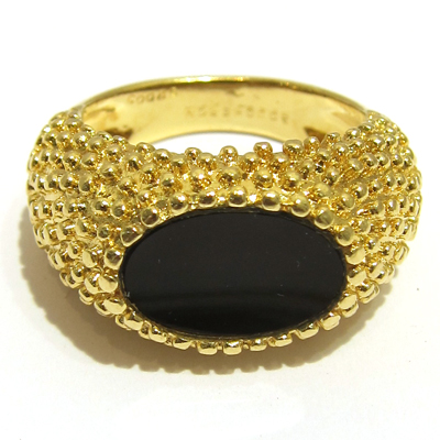 acheter vendre bijoux de marque de luxe bague or onyx signee boucheron 642. Black Bedroom Furniture Sets. Home Design Ideas