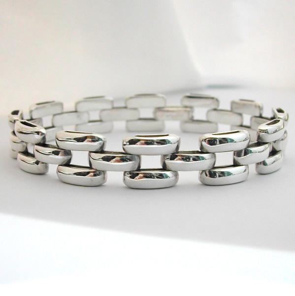 bracelet argent grain de riz