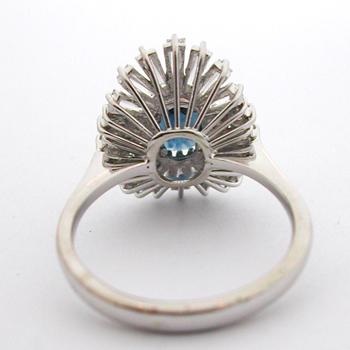 Bague or gris saphir diamants 584 – Bagues vintage – Bagues de ...