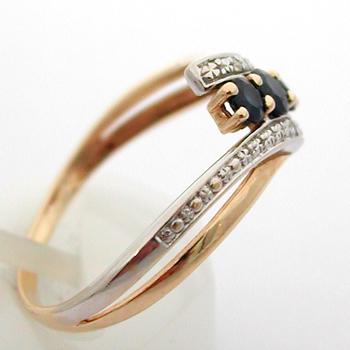 Bague or saphirs diamants 594 \u2013 Bagues de fiançailles. Cliquer pour agrandir