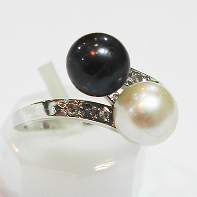 matériaux de haute qualité la clientèle d'abord grand Prix Bague or blanc perles de culture diamants 628 : Bijoux ...