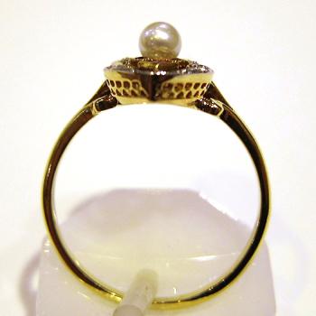 Bague marquise ancienne perle diamants 721 bague de fian ailles bijoux anciens paris or for Marquise ancienne