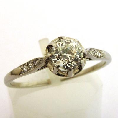 anciennes bagues de fian ailles bague platine diamant 773 bijoux anciens paris or. Black Bedroom Furniture Sets. Home Design Ideas