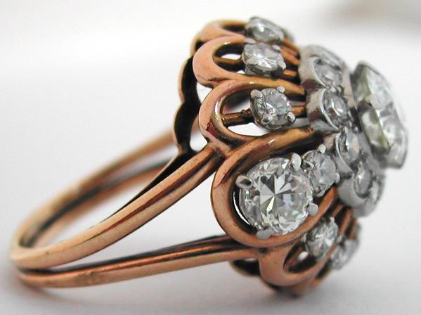 bague diamants platine or 28 ann es 1950 1960 bijoux. Black Bedroom Furniture Sets. Home Design Ideas
