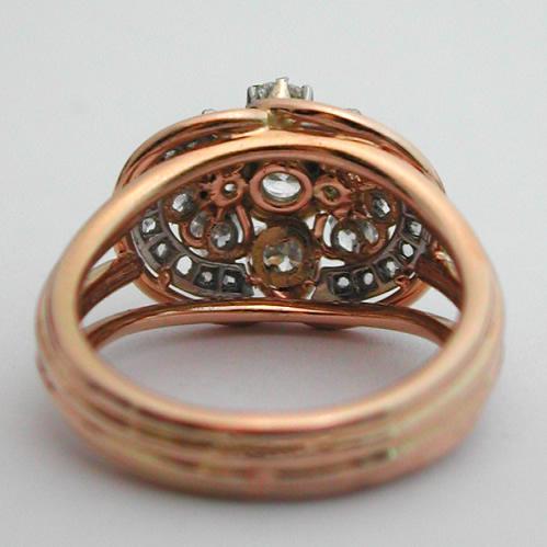 bague ancienne or diamants 282 bijoux anciens paris or. Black Bedroom Furniture Sets. Home Design Ideas