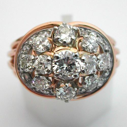 Bien connu Bague ancienne or diamants 282 : Bijoux anciens Paris Or WP98