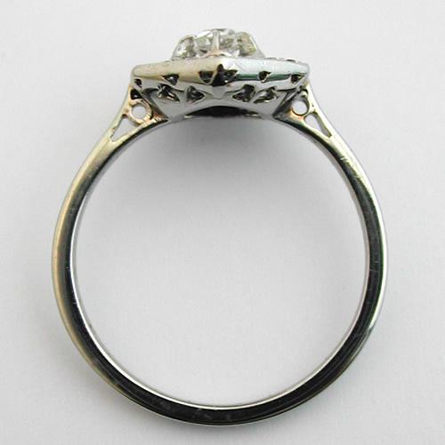 Bien connu Bague ancienne diamants or blanc – Hexagonale 333 : Bijoux anciens  WP98