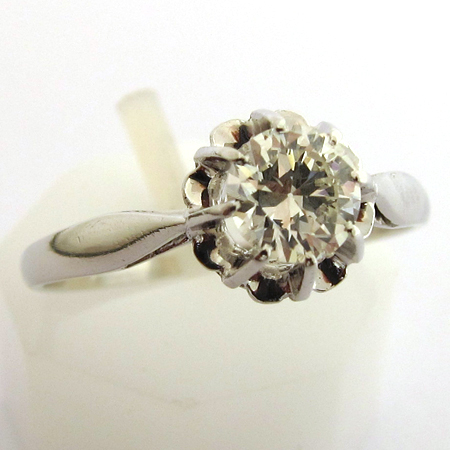... diamant platine 792 - Bague de fiançailles ancienne occasion