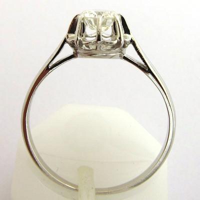 solitaire diamant platine 792 bague de fian ailles ancienne bijoux anciens paris or. Black Bedroom Furniture Sets. Home Design Ideas