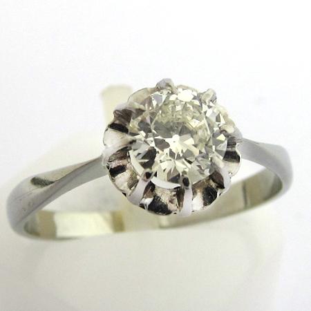 ancienne bague de fiancailles solitaire diamant ancien 861 bijoux anciens paris. Black Bedroom Furniture Sets. Home Design Ideas