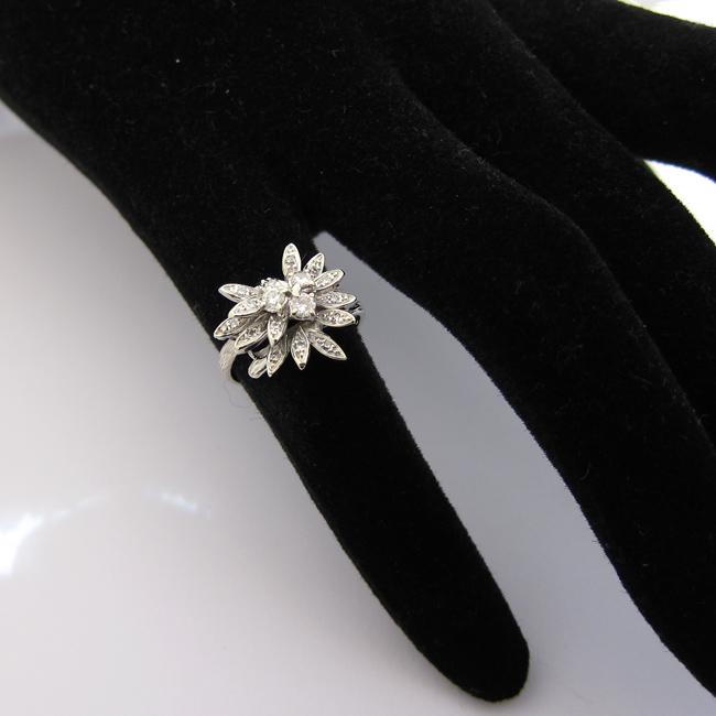 Exceptionnel Bague fleur diamants 732 - Bagues de fiançailles originales  BY89