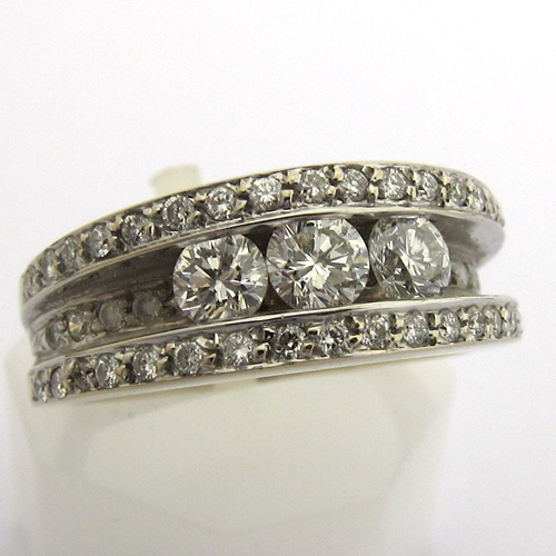 bijoux modernes occasion bague or blanc diamants 859. Black Bedroom Furniture Sets. Home Design Ideas