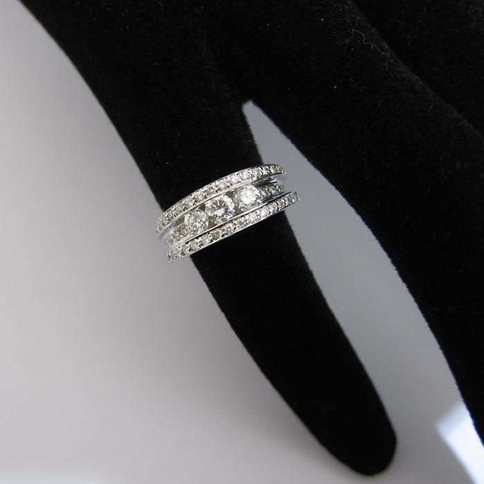 Fabuleux BIJOUX MODERNES OCCASION - Bague or blanc diamants 859 - Bijou  MA39