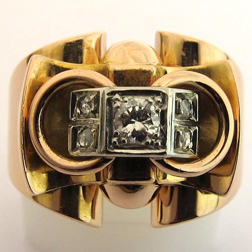bague retro 1099 bijoux anciens paris or. Black Bedroom Furniture Sets. Home Design Ideas