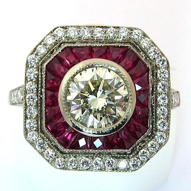 bague rubis occasion 919 bijoux anciens paris argent. Black Bedroom Furniture Sets. Home Design Ideas