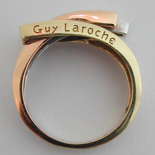 bague or jaune guy laroche