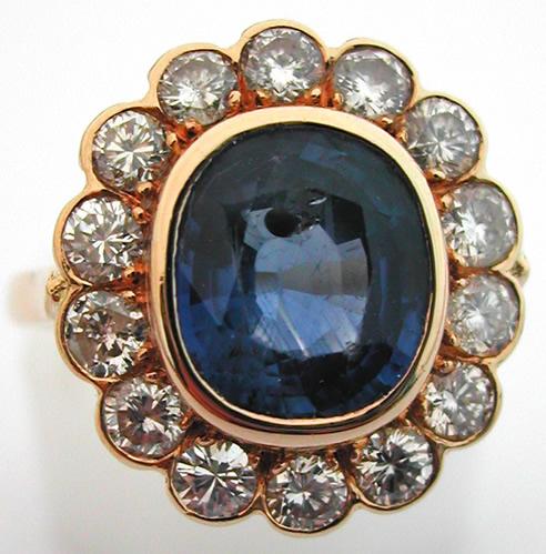 bagues de fian ailles anciennes or saphir diamants pompadour 130. Black Bedroom Furniture Sets. Home Design Ideas