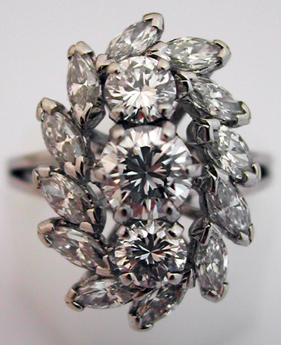 bagues vintage bague diamants or blanc 144 bijoux. Black Bedroom Furniture Sets. Home Design Ideas