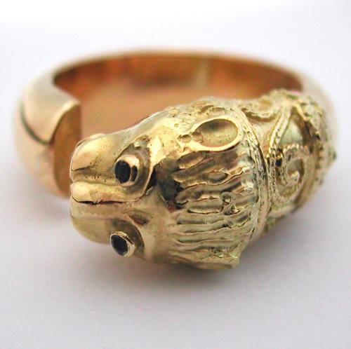 bague or rubis lion 225 bijoux anciens paris argent. Black Bedroom Furniture Sets. Home Design Ideas