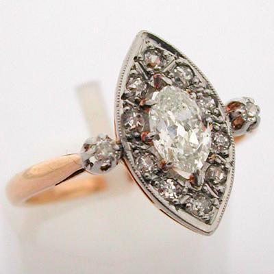 Vente et achat de bagues anciennes marquise or platine diamants bijoux pr cieux d 39 poque for Marquise ancienne