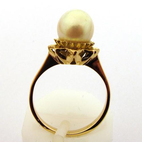 bague perle de culture blanche or rose 913 bijoux. Black Bedroom Furniture Sets. Home Design Ideas