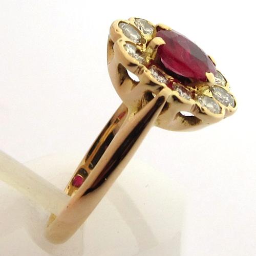 Connu Rubis : Bague rubis diamants 941 - Bagues de fiançailles anciennes EO71