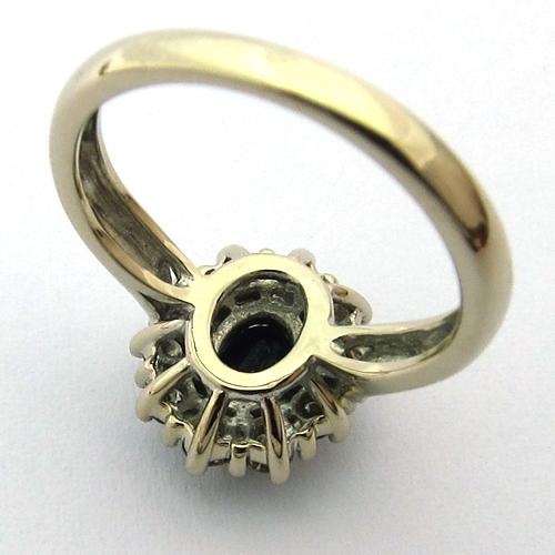 bagues de fiancailles vintage bague or blanc saphir diamants 927 bijoux anciens paris or. Black Bedroom Furniture Sets. Home Design Ideas