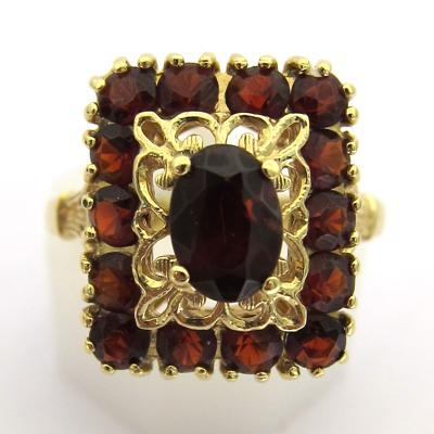 achat or paris vente de bijoux d 39 occasion bague grenat or 652 bijoux anciens paris or. Black Bedroom Furniture Sets. Home Design Ideas