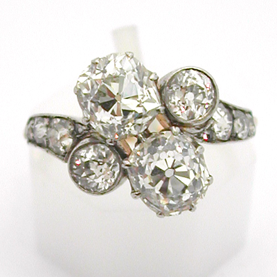 Super Achat or Paris - Vente Bague ancienne diamants or platine 575  SZ21