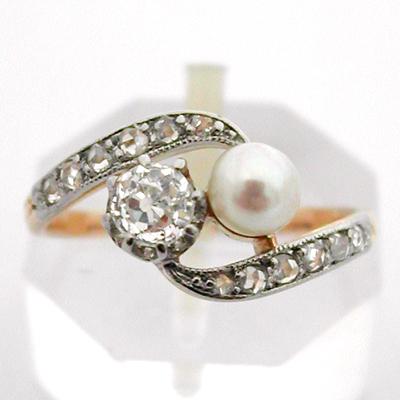 bague diamant perle