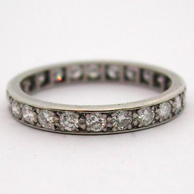 ... de bijoux anciens - Bague platine diamants 435 – Alliance de mariage