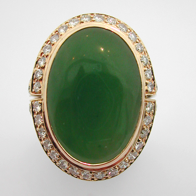 bijoux anciens paris or bague or jade diamants 548 bagues anciennes. Black Bedroom Furniture Sets. Home Design Ideas