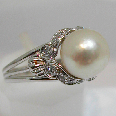 bague perle ancienne