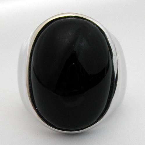Bague Argent Onyx Bijou Moderne 199 Bijoux Anciens