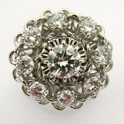 bagues de fiancailles occasion paris bague or blanc platine diamants 646 bagues des ann es 1960. Black Bedroom Furniture Sets. Home Design Ideas