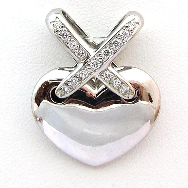 183 D'amour Bijou Or Gris Diamants Déclaration Coeur Pendentif pLzMSUGqVj