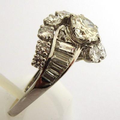 bijoux de luxe occasion paris bague diamants platine 755 bijoux anciens paris or. Black Bedroom Furniture Sets. Home Design Ideas