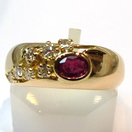 bague jonc rubis diamants 710 magasin bijoux or occasion paris ile de france bijoux anciens. Black Bedroom Furniture Sets. Home Design Ideas