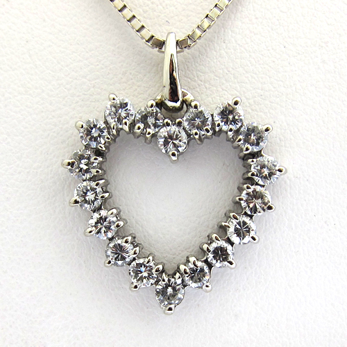 expert bijouterie paris pendentif coeur diamants 201 bijou vintage bijoux anciens paris or. Black Bedroom Furniture Sets. Home Design Ideas