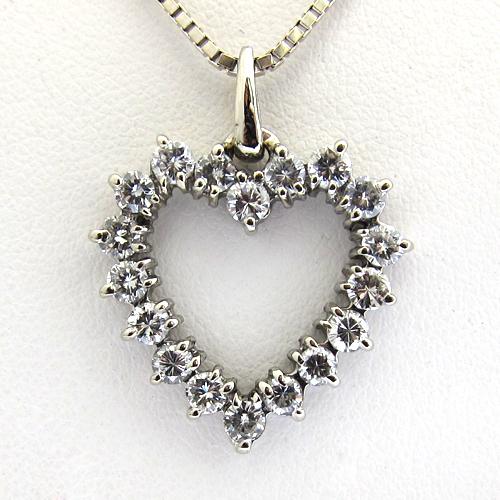 Pendentif coeur diamant or